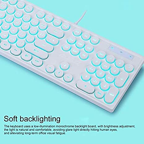 JINGZ AK325 Girls Mechanical Backlit Gaming Keyboard Premium Material Color : Green