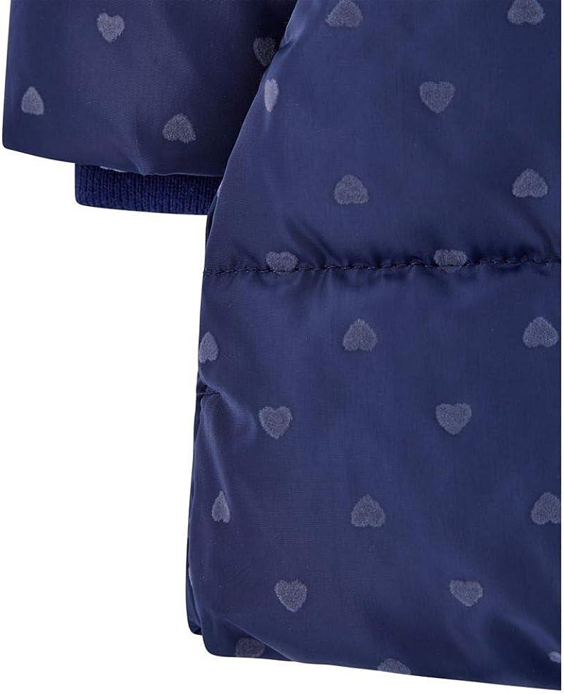 Mothercare Baby Padded Coat Duvet Wrap Navy Heart