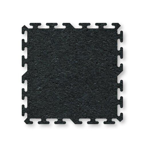 ProImpact Interlocking Rubber Flooring (4 Pieces), Black