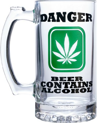 "UPC 662425061174, Pipe Magic 16 Oz (475 Ml) Etched Beer Mug ""Danger Beer Contains Alcohol"""
