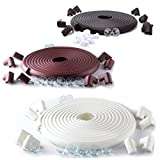 SafeBaby & Child Proofing 23.2ft Long Set /16 Corner Guards babyproofing Edge. Clear Furniture Protective Bumpers. Cushion Foam Strip Brick pad Toddlers childproof Fireplace Guard.Brown White Black