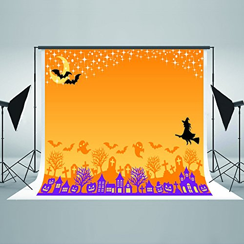 7x5ft Halloween Photography Background Witch Bats Children Photo Backdrops Pumpkin Ghosts Party Photo Booth Backdrop 86188243