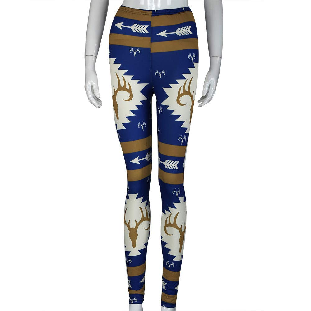 Cute Cartoon Elephant Leggings with Pocket for Women Yoga High-Waist Tummy Control Workout Pant Tights