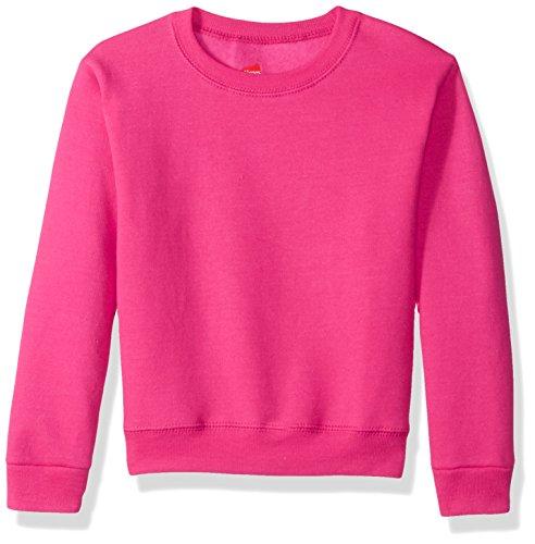 Hanes Big Girls' Ecosmart Graphic Fleece Sweatshirt, Amaranth, M