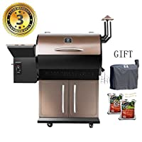 Wood Pellet Grill & Smoker with Patio Cover,700 Cooking Area 7 in 1- Electric Digital Controls Grill for Outdoor BBQ Smoke, Roast, Bake, Braise and BBQ with Storage Cabinet (Free 2 Wood Pellets) made by  fabulous Z GRILLS