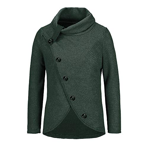 Cable Bolero - Womens Sweater Plus Size AmyDong Warm Cable Knitted Loose Button Wrap Hoodies Pullover Tops (3XL, Green)