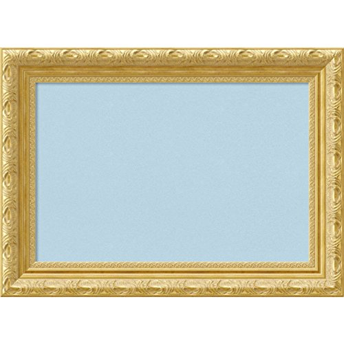 Amanti Art Framed Blue Cork Board Versailles Gold: Outer Size 22 x 16'', Small by Amanti Art