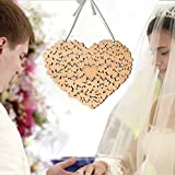 Ruier-hui Wedding or Anniversary Guest Book Mirrored Hearts Shape Hanging Board