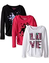 Hanes Girls' Long Sleeve Graphic Tee