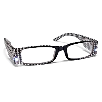 7dcbaecca3a Image Unavailable. Image not available for. Color  PS Designs 01416 - LED  Houndstooth Frame +1.25 Lighted Reading Glasses