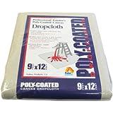 Paint Essentials 9-Feet x 12-Feet Polycoated Drop Cloth CDC912