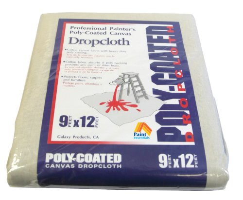 Paint Essentials 9-Feet x 12-Feet Polycoated Drop Cloth CDC912 Galaxy Products