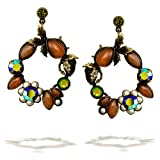 La Contessa Fall Foliage Vine Earrings, Designed by Mary DeMarco and Curated by The Artazia Collection - E8420