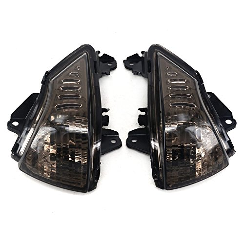 JFG RACING Black Front Turn Signals Blinker Light Lamp Indicator Cover Guard For KAWASAKI ER6N ER6F 2009-2011