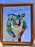 Cow Warhol Stained Glass Window Art Sun catcher
