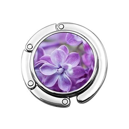 Púrpura Violeta Lila Flor Monedero Gancho de Mesa Percha Mujeres ...