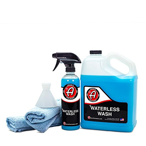 Adam's Waterless Car Wash - Made with Advanced Emulsifiers and Special Lubricants - Eco-Friendly Waterless Car Washing with No Hoses, No Water, No Messes (Collection) -