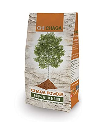 Premium Organic Chaga Mushroom Powder - 8 oz of Authentic 100% Wild Harvested Canadian Chaga Tea