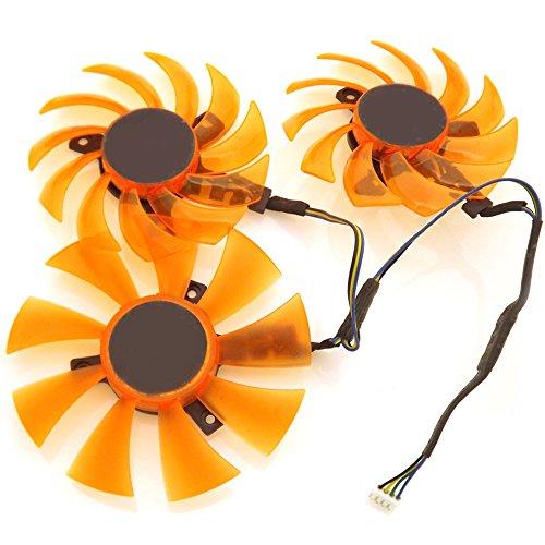 3pcs/lot APISTEK GA91S2H GA81S2U 12V 4Wire 4Pin For ZOTAC Cooling Fan by Z.N.Z