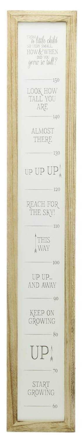 Carousel Home and Gifts 115cm Wooden Measuring Growth Height Chart For Children With Quotes