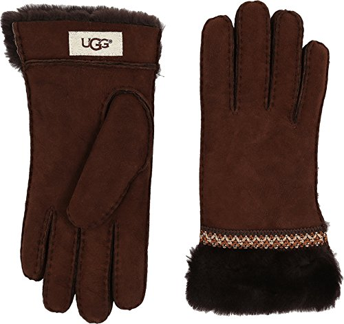 UGG Women's Classic Tasman Tape Gloves Chocolate SM