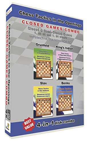 Chess Tactics in the Openings 4-in-1 Combo Closed Games (4 Disks)