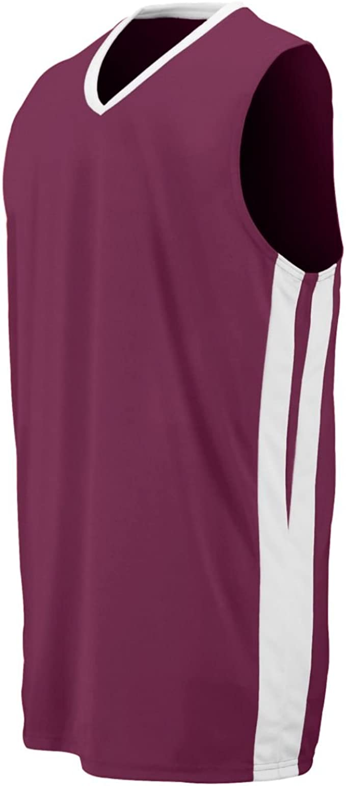 Maroon /_White L Augusta Youth Triple-Double Game Jersey