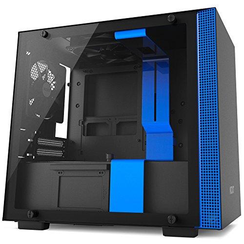 Gabinete H200, Nzxt CA-H200B-BL, Vidro Temperado, Mini-ITX, Preto/Azul