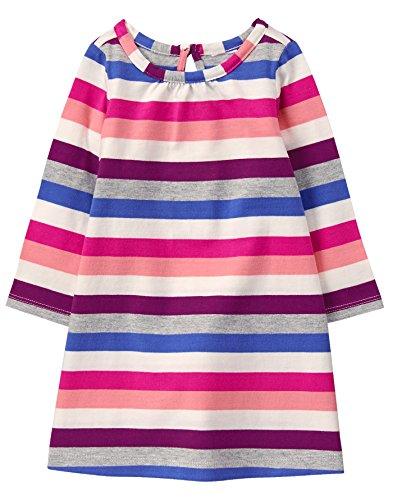 Girls Gymboree Dress - Gymboree Girls' Toddler Printed Shift Dress, Stripe, 5T
