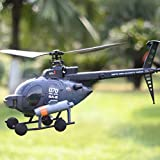 MECO FX070C 2.4G 4CH 6-Axis Gyro Flybarless MD500 Scale RC Helicopter