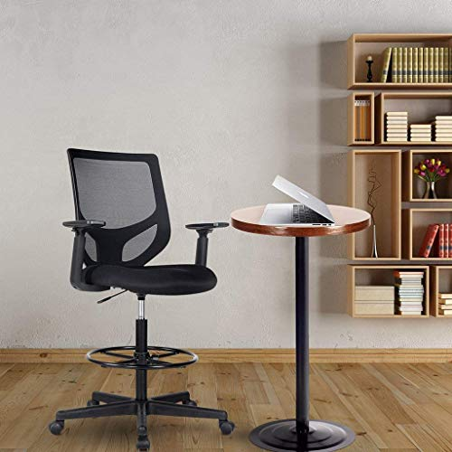 Smugdesk Drafting Chair Tall Office Chair for Standing Desk Drafting Mesh Table Chair with Adjustable Armrest and Foot Ring
