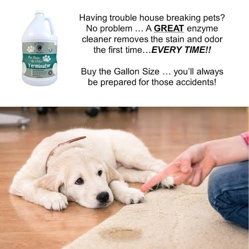 BUBBAS, Super Strength Commercial Enzyme Cleaner-Pet Odor Eliminator. Gallon Size Enzymatic Stain Remover-Remove Dog-Cat Urine Smell From Carpet, Rug Or Hardwood Floor And Other Surfaces.