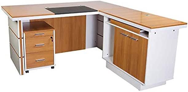 Mahmayi Zelda M230-16 Modern Executive Desk - Walnut/White (160cm)