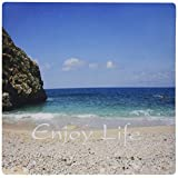3dRose LLC 8 x 8 x 0.25 Inches Mouse Pad, Print of Life Is Beauty on California Beach Landscape (mp_182558_1)