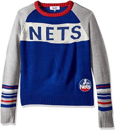 New Nets Acrylic Jersey (Touch by Alyssa Milano NBA New Jersey Nets Team Spirit Sweater, Medium, Royal)