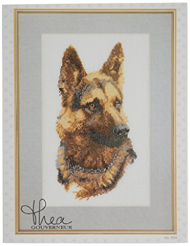 Thea Gouverneur 24 Count Counted Cross Stitch Kit, 9-1/2 by 13-Inch, Shepherd's Dog on ()