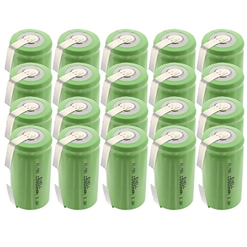 20x Exell 1.2V 5000mAh NiMH C Size Rechargeable Batteries w/Tabs use with electric mopeds meters two radios electric razors toothbrushes cameras mobile phones pagers medical instruments/equipment