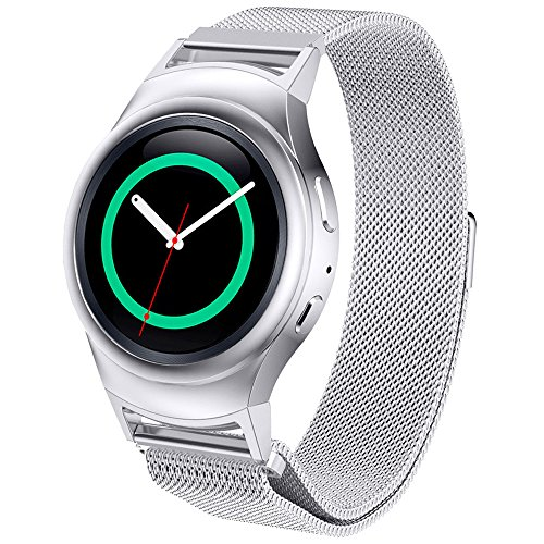 dbmood-mesh-watch-band-for-samsung-gear-s2-rm-720-smart-watchstainless-steel4-color826-inches-silver