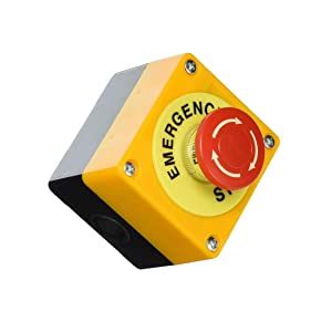 Liberty,AC660V 10A Plastic Shell Red Sign Emergency Stop Mushroom Push Button Switch