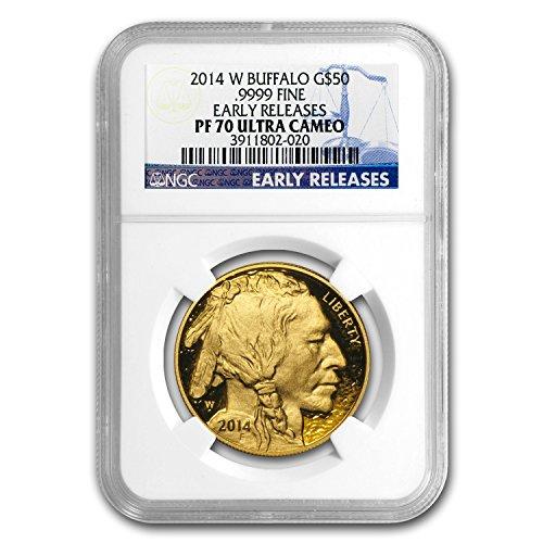 2014 Gold Buffalo - 2014 W 1 oz Proof Gold Buffalo PF-70 NGC (ER) 1 OZ PF-70 NGC