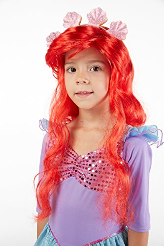 Spooktacular Creations Deluxe Mermaid Costume Set with Red Wig and Headband (Toddler (3-4)) - http://coolthings.us