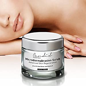 Advanced Microdermabrasion Scrub, A Natural Exfoliating Facial Scrub for Face, Hands & Neck & Décolleté, Anti Aging Skin Care, Proven to Minimize Pores, Wrinkles, Acne Scars & Remove Blackheads.