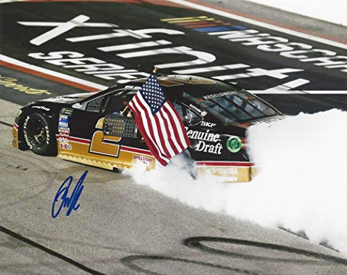- AUTOGRAPHED 2018 Brad Keselowski #2 Miller Genuine Draft Racing DARLINGTON THROWBACK RACE WINNER (American Flag Burnout) Team Penske Signed Collectible Picture NASCAR 8X10 Inch Glossy Photo with COA