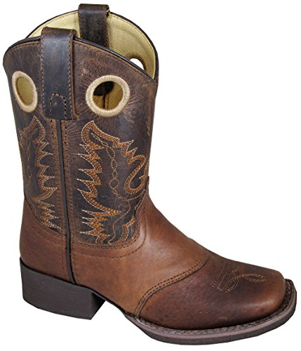 Smoky Mountain Children Luke Square Toe Western Cowboy Boots Brown, 10M