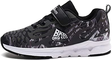 ed12f9b5f52c tqgold® Kids Trainers Boys Girls Sports Running Shoes Luminous Lights Sneakers  Black Size Child 8.5