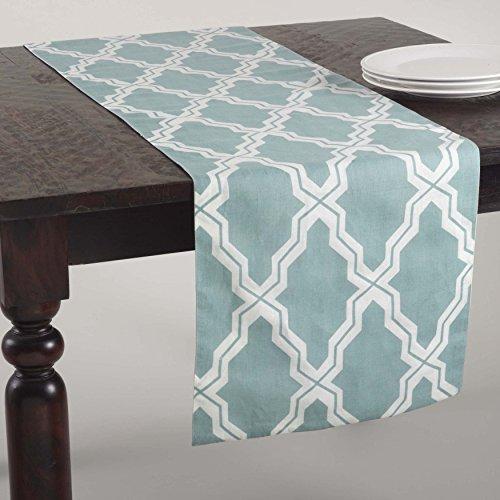 SARO LIFESTYLE 914.DE1672B Yasmina Collection Printed Moroccan Design Table Runner, 16