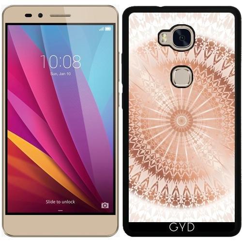 Funda de silicona para Huawei Honor 5X - Mandala De Rosa De Oro Blanco by Nina Baydur