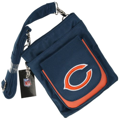 NFL Chicago Bears Crossbody Handbag Womens- Embroidered Logo by Little - Little Handbag Earth Womens