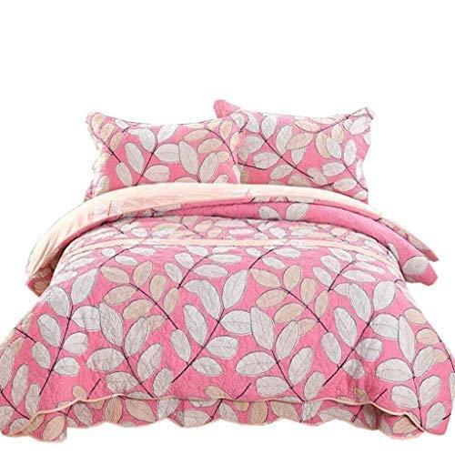 ベッドライニング キルトのベッドカバー、100%コットン4ピースのベッドカバー/キルトセットパッチワークの花のキルトツインサイズのベッドカバー 写真ベッドライニング B07SX7MZM8