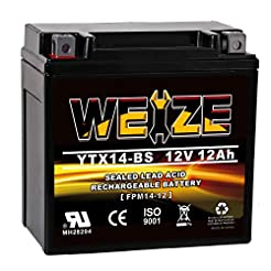 Weize YTX14 BS ATV Battery High Performa...